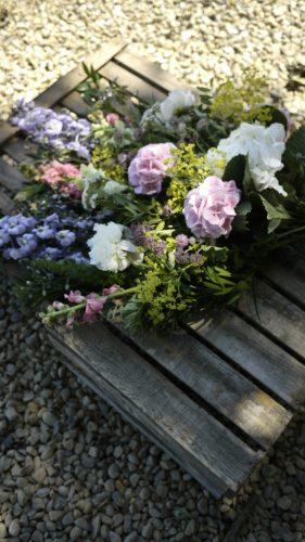 Leafy Couture Flower School - tied sheath