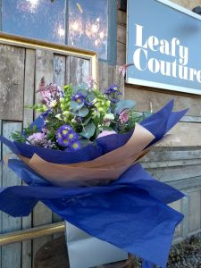 Leafy Couture Flower School - my hand tied bouquet