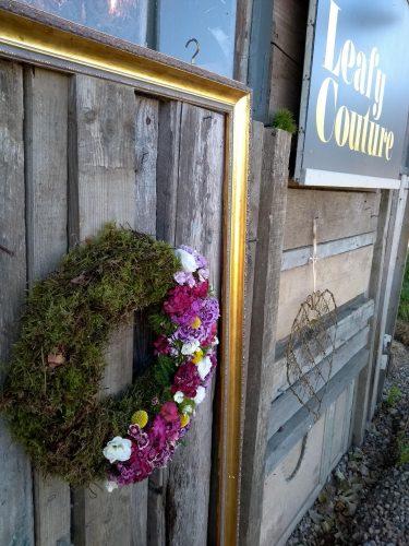 Leafy Couture Flower School - my wreath
