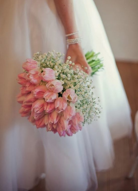 tulip bridal bouquet