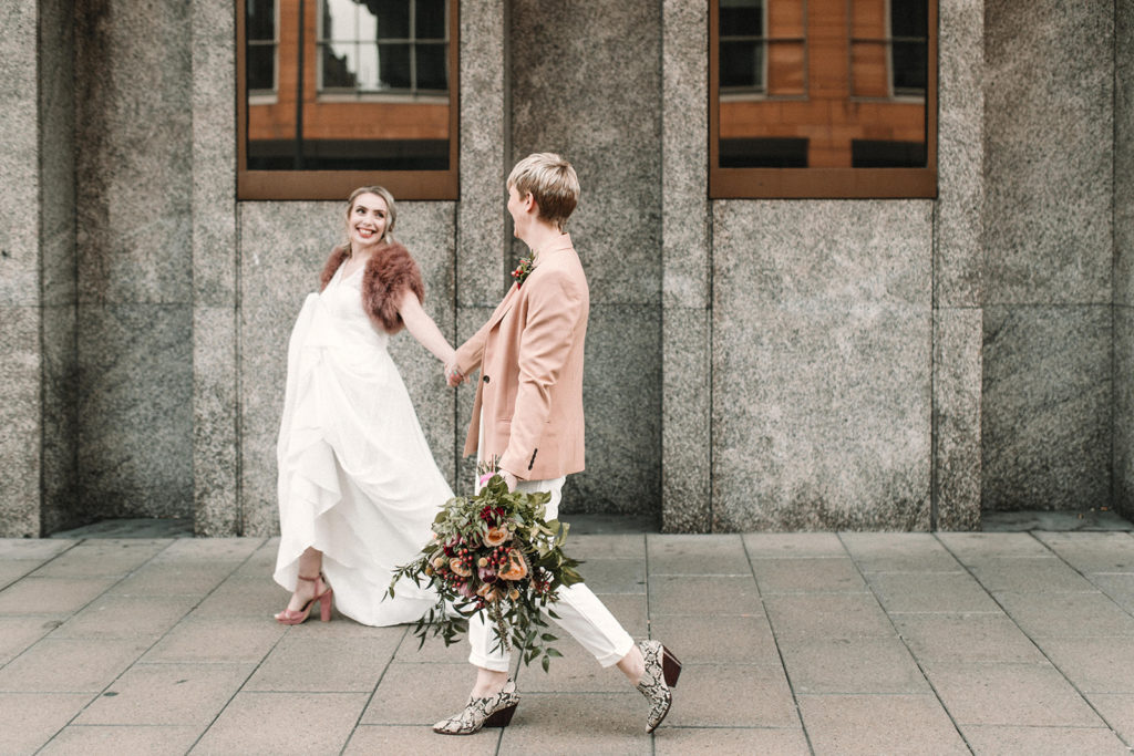 city centre elopement photo shoot